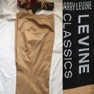 "LEVINE Tan pants ""NWT"" Fully lined Pockets Sz: 14"